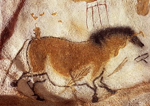 Lascaux Mağarası'ndan Çin Atları Paneli'nden bir at.