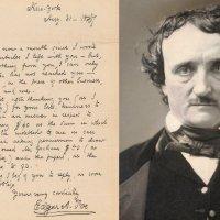 Poe'nun mektubu 173 yıl sonra 125,000 Dolara Satıldı
